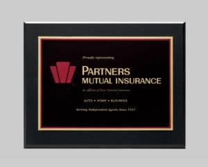 APS custom plaque design for Partners Mutual Insurance