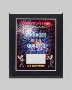 custom plaque for managerial award by Awards Program Services