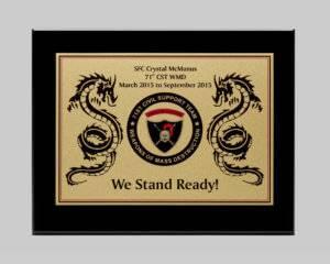 custom military plaque design by Awards Program Services