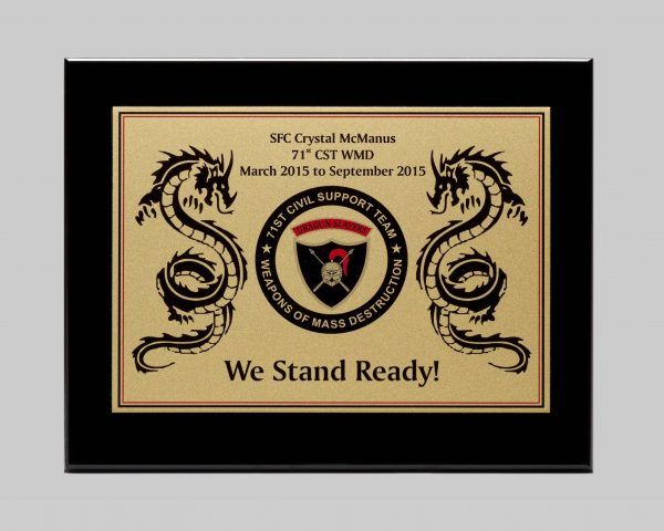 custom military plaque design by Awards Program Services