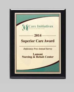 Custom design plaque for lamoni nursing & rehab center by APS