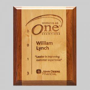 custom wood plaque by APS for John Deere in Iowa