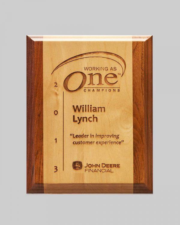 custom wood plaque by APS for John Deere in Iowa