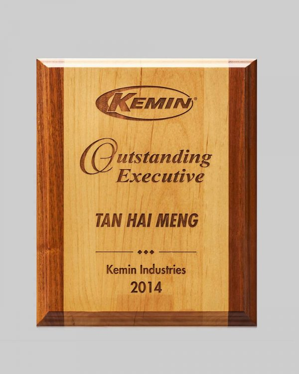 Kemin Industries services wood award plaque by APS in Iowa