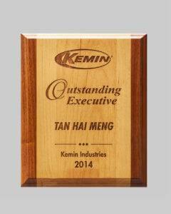 custom design plaque award for Kemlin Industries by APS Awards in Iowa
