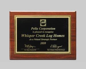 custom plaque awards for pella corporation by award program services