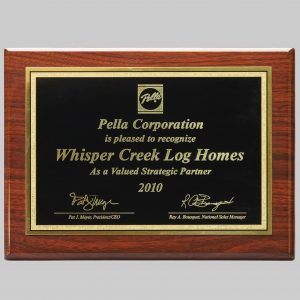 custom plaque awards for pella corporation by award program services