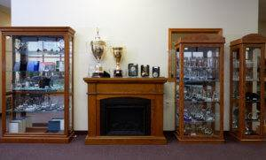 crystal awards for businesses, custom engraving on crystal trophies at APS in Des Moines