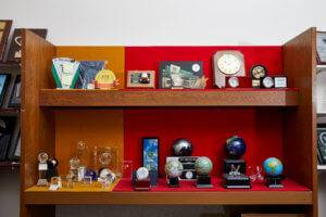 Awards gallery of plaques and crystal trophies at Awards Program Services