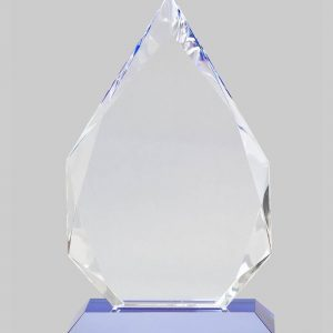 template for custom crystal and glass trophies