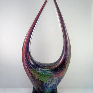 """17"""" height art glass award"""