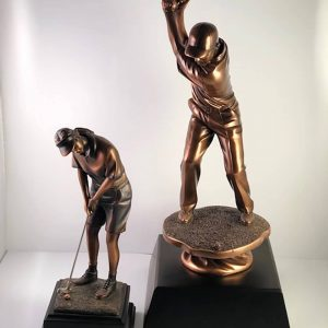 Bronze Golf Statuettes