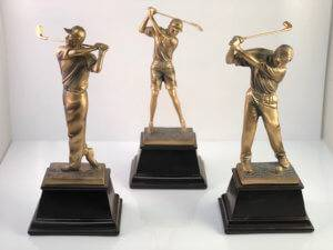 Bronze Golf Statuette Examples