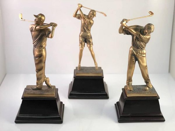 Bronze Golf Statuette Examples