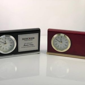 Desk Clock Plaque options at APS Awards.