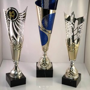 Artistic Fluted Trophies by APS in Des Moines.