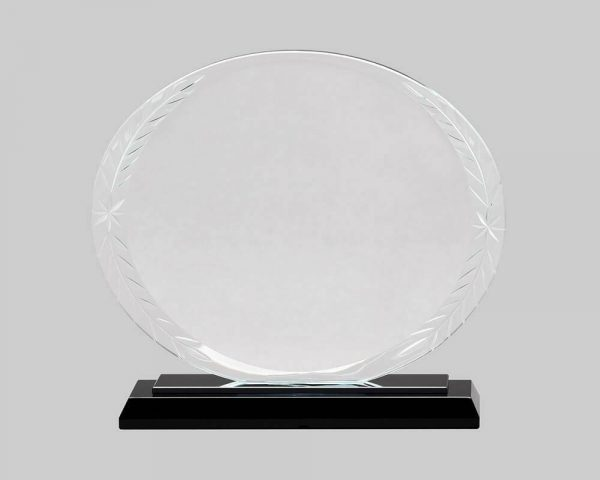 Glass oval award.