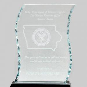 Glass wave award.