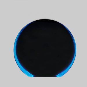 Acrylic Circle award in black and blue.