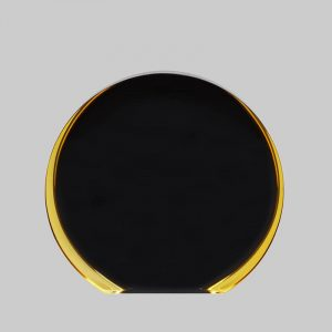Acrylic Circle Award in Black and Gold