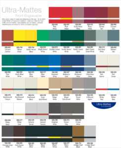 Colors for exterior sign labels.