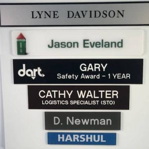 Office name plate options from APS.