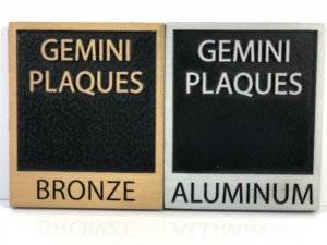 Bronze and aluminum plaques available at APS.